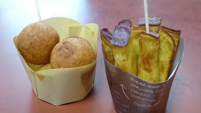 おいものドーナツやカリカリ大学いも、お芋チップス、焼いも焼酎「美並の恵」なども販売しています。色んなお芋スイーツを食べ比べてみてくださいね。