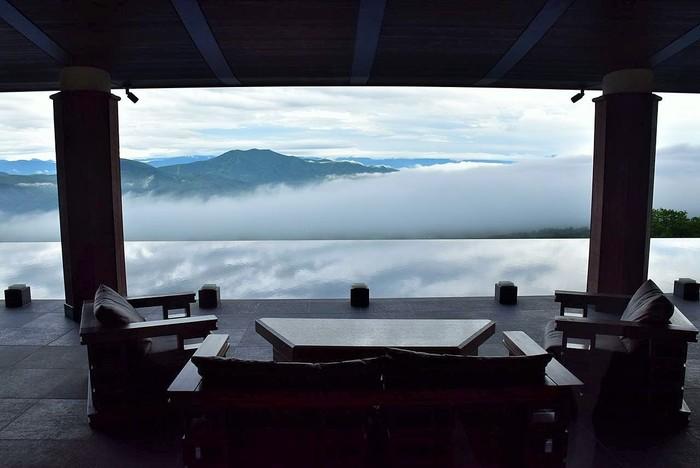 気象条件が揃ってこそ発生する雲海。見られたら「ラッキー」!こちらは朝5時前に撮影されたもの。