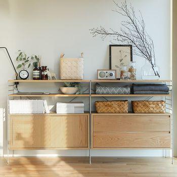 「収納家具」を素敵にディスプレイ♪狭くてもおしゃれな部屋にする方法