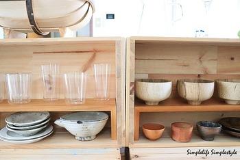 食器棚がオープンになっているので、多少湿気が残っていても自然に乾くのだそう。洗い物が終わればシンクもすっきり片付くので、とても効率が良いですね!