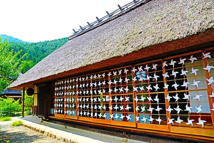 西湖周辺には、国指定天然記念物のコウモリ穴や青木ヶ原樹海、日本の原風景を甦らせたかやぶき屋根の集落が美しい、画像の「西湖 いやしの里 根場(ねんば)」など、楽しめるスポットがたくさん!根場には匂い袋作りや素焼きへの色付け体験など様々な体験や、山梨名物のほうとうや手打ち蕎麦などが味わえる食事処、お土産屋さんなどもあります。