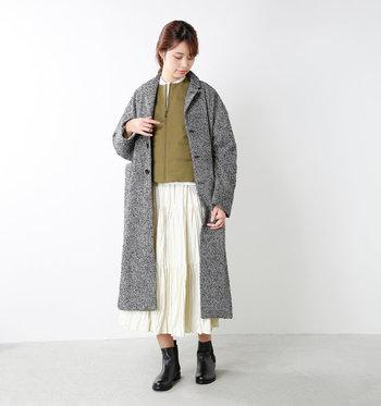 コートの季節もバッグに忍ばせておけば、とっさの寒さにも対応可能!アウトドアブランド機能を存分に体感できますよ。
