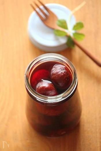 ラム酒を加えたレシピがこちら。ラムも香りのいいお酒なのでより美味しさを引き立ててくれそう。