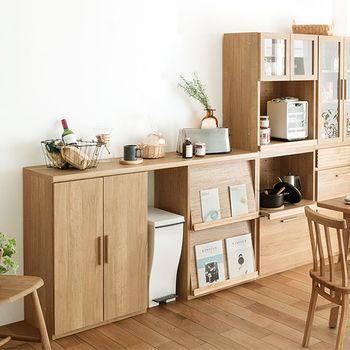 天板を付けることも可能なので、カウンターとして使うことも可能です。キッチンの作業スペースを広げるのも良いですね。