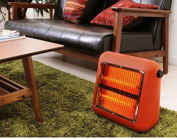 コンパクトサイズのデザインヒーターです。レッド・オレンジ・ベージュ・ブラウン全4色のお色、全てがかわいい!遠赤外線で身体の内側からポカポカ温かくしてくれます。ちょうどよいヒーターをお探しの方へ。
