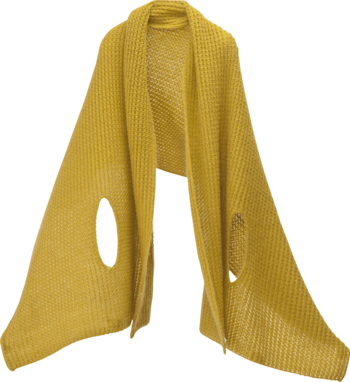 毛足の長いモヘア混の糸で編んでいるので、肌触りが滑らかで、ふんわり。色はあたたかなマスタード、ブルーグリーン、パープル、モカ、アッシュグレーの全5色あります。