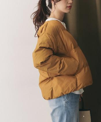オーバーサイズのアウターなら、今の時期だけでなく、寒くなった冬も厚めのニットを着てもパツパツにならずに、そして今年らしさもプラスできます◎