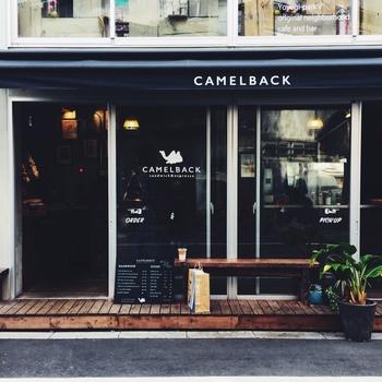 代々木公園駅から歩いて約5分のところにある「Camelback sandwich&espresso」。その名の通り、サンドイッチとエスプレッソがおすすめなお店です。