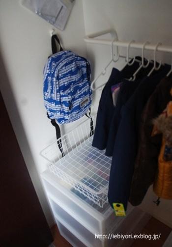 子供部屋のクローゼットに、お子さんの使いやすい高さで設置することもできます。
