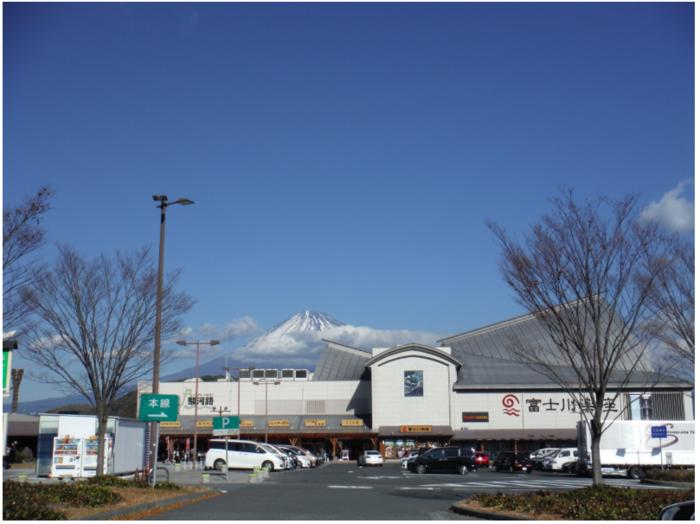 """「富士川楽座」は、富士川SA(上り)と接続するハイウェイオアシス(道の駅)です。  道の駅といっても、他の駅と異なり、商業施設が実に多彩。蕎麦やラーメン、洋食や寿司、和食処やレストラン、寿司店やカフェ等など、様々なジャンルの飲食店が数多く入り、菓子店や土産物店、スナック販売店も揃っています。  プラネタリウムや体験型の遊び場、新鮮な花や野菜等が並ぶ産品市場もあり、当施設は、""""道の駅""""というよりも、むしろアミューズメント施設といった方が早いかも知れません。"""