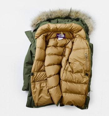 例えばこちらのダウンコート。自分の体から出る遠赤外線で自分の体を保温できるように【光電子繊維】を使用しているそう。そのおかげで体温で自然に保温され、寒い日でも快適に過ごすことができるんです。