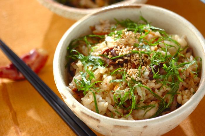 照り焼きにしたブリの身をほぐしてご飯と混ぜ合わせた冬の混ぜご飯レシピ。大葉をのせると風味と見栄えもアップ!多めに作って余ったらおにぎりにしても美味しいですよ◎