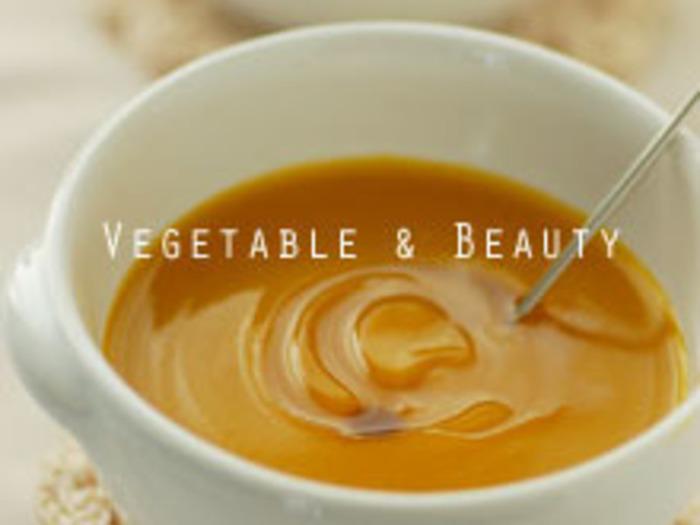 夕食のスープは、デザートスープにするのも◎豪華なディナーの後にスープでほっと一息つくのも良いですね。こちらは、カボチャとハチミツだけで作る冷たいスープ。早めに作ってしっかり冷やしておきましょう。