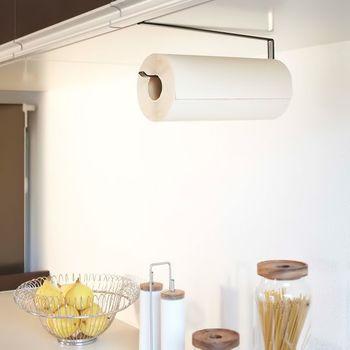 冷蔵庫周りはもう一杯・・・。そんな人には戸棚タイプはいかが?戸棚にスッと差し込んで、キッチンペーパーを吊り下げることができます。