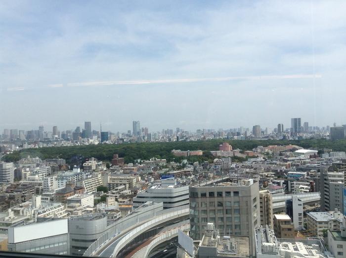 ビルの18階とあって眺望は抜群。かなり遠くのビルまで見渡せます。これだけの景色を楽しみながら、リーズナブルなランチができるのはうれしいです。