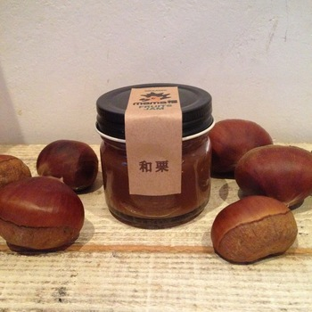 """栗のスイーツがお好きな方にオススメなのは、""""和栗""""を使ったジャムです。秋らしいこっくりとした色味も目を引きます。"""