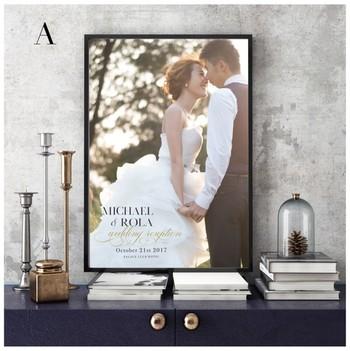 結婚式や記念日の写真など、とっておきの写真はおしゃれなインテリアとして飾ってみませんか? ポスターサイズにプリントしたものをフレームに入れてもいいですし、フォトパネルとして仕立てても素敵です。玄関ホールにラフに立てかけたり、リビングの壁にディスプレイしたり、思い出の写真に囲まれる幸せを感じてみてくださいね。