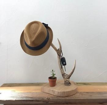 こんな帽子スタンドがあれば、アート感覚でおしゃれに帽子を掛けておくことができますね。ただ置いておくだけでもオブジェのような佇まい…!