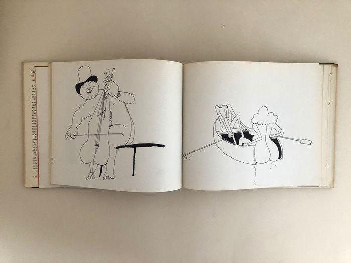 異色の作家による鋭い風刺の効いたイラストレーションの数々。 こちらは貴重な初版本です。気になった方はお早めに!