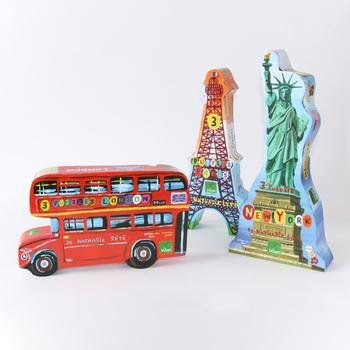フランスのイラストレーター、ナタリー・レテが手掛けたパズル。パリ、ロンドン、ニューヨークの3種類あり、ユーモラスで小粋なイラストがまだ見ぬ外国への好奇心を刺激します。