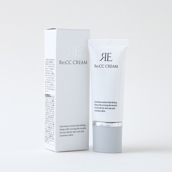 Re:CCクリーム  SPF30のCCクリーム。ヒアルロン酸をはじめ、ローズフルーツエキスやカミツレエキスなどの美肌成分を使用。日焼け対策しながら保湿ケアもできちゃうベースアイテムです。