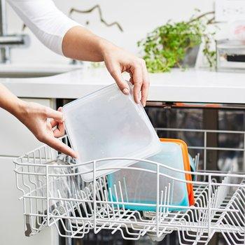 「stasher(スタッシャー)」は高温でも大丈夫だから、食洗器で洗うのがおすすめ。清潔&衛生をキープすることができます。
