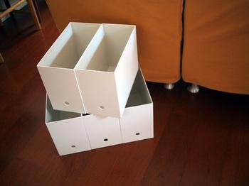 あらゆる物の収納に便利な無印良品の「ファイルボックス」を活用しているブロガーさんも…。リビングやダイニング、キッチンの収納には勿論、トイレの収納としても大活躍するアイテムです。