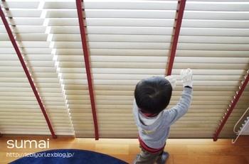 ガラス拭きはもちろん、意外と手がかかるのがブラインドやサッシなどの窓まわりの掃除。夏場は暑く真冬は冷え込むので、あまり作業環境としてはよくありません。秋の晴天のうちに、時間がかかる掃除をしておきましょう。