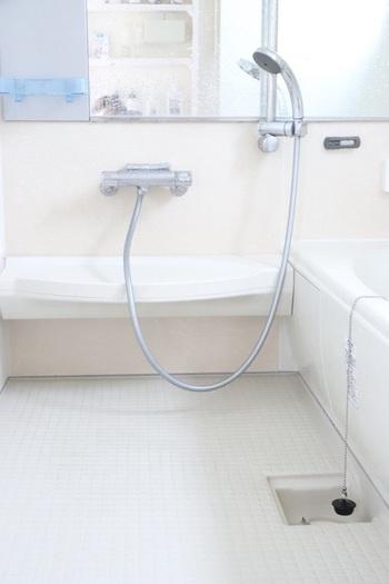 お風呂場は、夏だと気温と湿度が高いので黒カビや赤い酵母のぬめりが出やすいのですが、気温が低くなっても結露が原因でカビに悩まされる事もあります。カビ汚れやカビのエサになる石鹸カスを取り除く水まわりの徹底掃除は、気温が下がりきる秋がおすすめです。