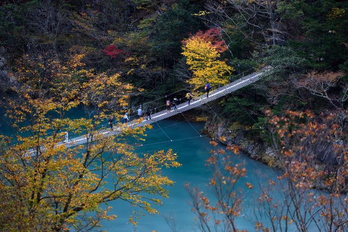 """恋が叶う""""夢の吊り橋""""で有名な静岡県の「寸又峡(すまたきょう)」。吊り橋のスリルだけでなく、眼下を流れる水の美しさを堪能してみませんか?"""