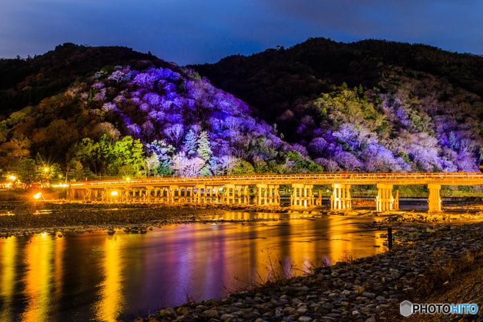 """もうひとつ、ぜひ訪れたいのが冬の時期に開催される""""京都・嵐山花灯路""""。嵐山エリア一体に灯りがともされ、とっても幻想的な雰囲気になります。凛とした冬の空気の中、ぬくもりある灯りの道を歩いてみてはいかがでしょうか。"""