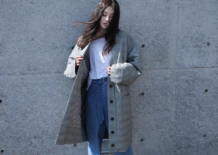 ひとつあるととっても便利な「キルティングコート」。コートの下にインすればライナーとして使えるタイプ、内側がボアになったあたたかなタイプのものまで、種類が豊富。