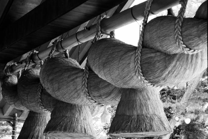 しめ縄は、神様が宿る場所に飾るためのもので、神社では一年中飾られています。自宅では神棚に飾るのが正しい飾り方だそう。しめ飾りは、しめ縄に縁起物の飾りがついたもので、一般的には玄関に飾ります。