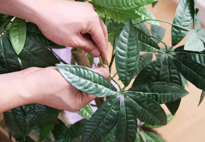 葉の部分も出来る限り本物に近づけた質感で、茎と葉の形状は、手で曲げて角度を変えることができ、自分の好きなデザインで楽しむことが出来ます。