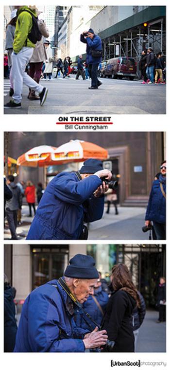 ビル・カニンガム氏の仕事場はニューヨークのストリート。有名人を撮影するのではなく、街行く人々の生き生きとしたファッションに魅力を感じ、いつも街の空気とともに撮り続けていました。