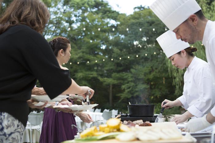 料理人が目の前で料理してくれるというのも嬉しい!