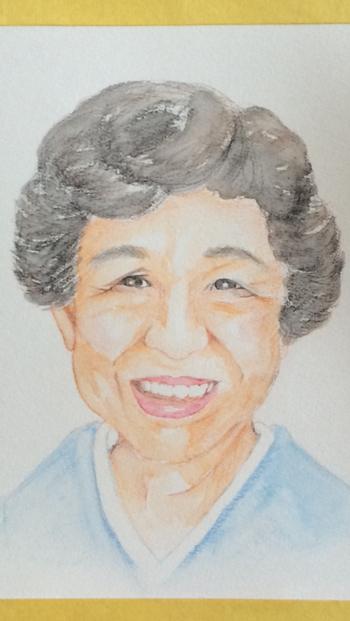 お母さんの顔を描いて、誕生日などにプレゼントするのもおすすめ。きっと、とっても喜んでくれますよ。
