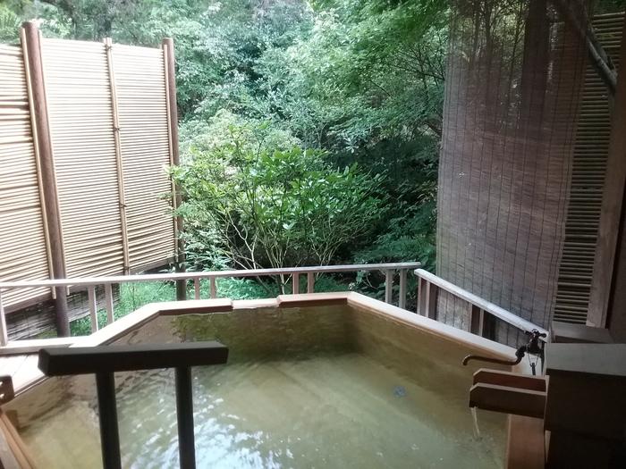 内風呂、露天風呂、貸切露天風呂とお風呂も充実。食事も山菜や海の幸など伊豆の美味しさを堪能できます。