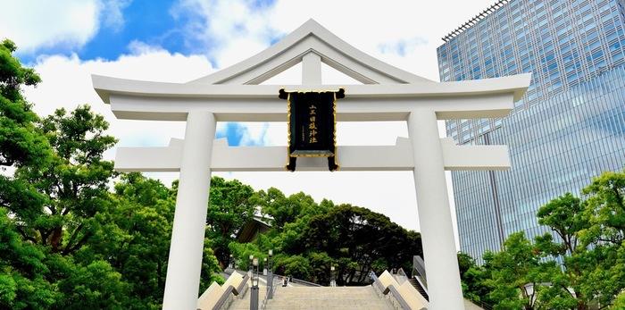 先ほどご紹介した赤坂氷川神社から歩いて15分のところにあるのが「日枝神社(ひえじんじゃ)」です。千代田線の赤坂駅からは徒歩3分、国会議事堂前駅からだと歩いて5分ほどです。ビジネスのご縁や勝負運や子宝に恵まれると、多くの方が訪れています。