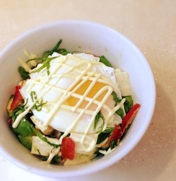 アボカド加えてを一気にオシャレなカフェ風に。豆腐丼の主となる食材は豆腐ですが、そのほかの食材は自分好みにカスタマイズして、アレンジレシピを楽しむことができます。また、ちょっと手をかけたりすると、豆腐丼のアレンジレシピは無限大です。