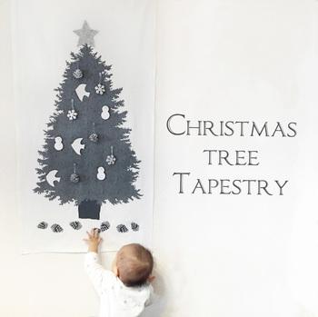 こちらのツリーはモノトーンで大人感たっぷり。今あるインテリアの邪魔をせず、でもクリスマスを楽しみたいという方にぴったりです。