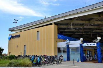 週末旅にもぴったりな、江ノ島にあるのが、「新江ノ島水族館」。最寄の片瀬江の島駅から徒歩約3分のところにありますよ。