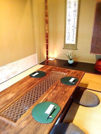 京懐石とカフェが融合した「懐石カフェ 蛙吉(あきち)」。月替わりのランチコースを目当てにしたリピーターも多い人気店です。