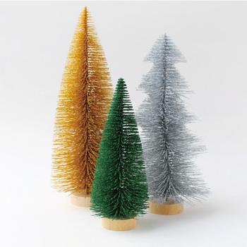 大きさやカラーリングの違うツリーの3点セット。まるで秋からクリスマスへの移り変わりを表現しているようなツリーたちは、並べ方次第で色んな表情に変化するので、見ていて飽きません!