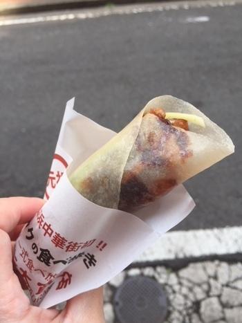 なんと高級な北京ダッグが気軽に食べ歩きでいただくことができるんです!
