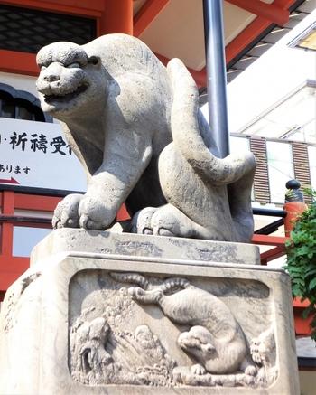 毘沙門天は寅の年、寅の月、寅の日、寅の刻に生まれたことから「寅毘沙」と呼ばれています。そのため、善国寺の本堂には狛犬ならぬ「石虎」が左右に配されています。江戸後期に作られた貴重な姿をぜひ見てみませんか?