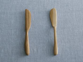 東京の山の木を積極的に使い商品化することで、東京の山の再生のお手伝いをしている「KINO」の木材を使ったカトラリーの手作りキット。