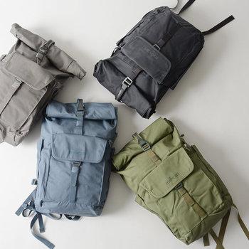 イギリス発のブランドmillican(ミリカン)。便利に使えるポケットがたくさんついた機能的なバックパックです。ナチュラルなキナリノ女子にもぴったりな淡い色味が特徴。普段使いからちょっとした旅行にちょうどよい大きさです。
