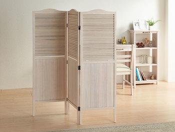 ナチュラルホワイトが可愛い木製のパーテーションです。圧迫感がなく、小部屋ができたような効果をもたらしてくれます。