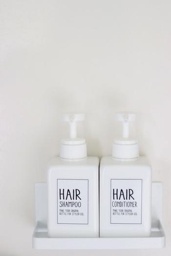 デザインも黒バージョンと白バージョンの2種類で、どちらもおしゃれで迷います。 無印良品の真っ白なボトルとの組み合わせが人気ですよ。